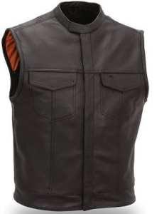 GILET CUIR SOA 762 Taille XL
