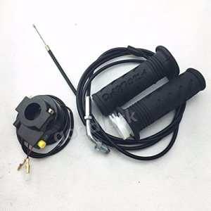 Poignées et câble d'accélération 190cm et coupe circuit pour trottinette à essence 43cc et 49cc