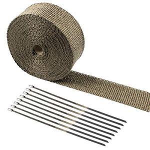 Besnail Bande de protection contre la chaleur en fibres de basalte 15 m avec serre-câbles pour miettes