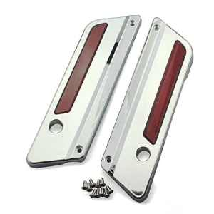 Caches-Charnières sacoches pour Harley CVO Street Glide 11-13 Chrome