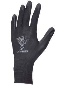 Gants SYNTHETIQUES Polyester Noir End PU Noir T7-7