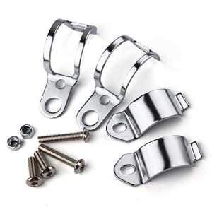 LEAGUE&CO 2x Support Clignotant Moto 12mm de Montage Pinces de Fourche Oreille 30-45mm Pour Harley (Chrome)
