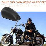 Peepheaven Réservoir de Carburant Universel en Fer Bobber de réservoir d'essence de café Racer pour Suzuki GN125 GN250 – Noir Mat