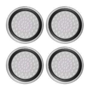 4pcs Silicone Anti-dérapant rayé Gamepad keycap contrôleur poignées Pouce Housse de Protection pour ps3 / 4 pour x Box One / 360 – Blanc et Noir