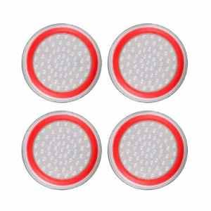 4pcs Silicone Anti-dérapant rayé Gamepad keycap contrôleur poignées Pouce Housse de Protection pour ps3 / 4 pour x Box One / 360 – Blanc et Rouge