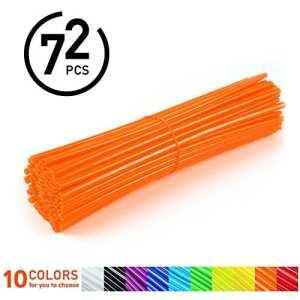 72Pcs Couvres Rayons Moto Spokes Skins Set Protections Universelles Pour Roues Et Jantes Motocross Motos VTT -10 Couleurs ( Couleur : Orange )