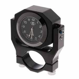 Baoblaze Indicateur de Température Thermomètre d'Horloge de Guidon 22mm – Noir