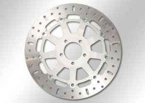 EBC disque de frein-disc aux (iNOX) avec certification aBE ø = 282 mm en acier inoxydable de frein flottants avec moyeu en aluminium argenté –