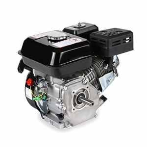 EBERTH 6,5 CV Moteur à essence thermique (20 mm Arbre, Alarme manque d'huile, 4 Temps, 1 Cylindre, Refroidissement à air, Démarrage via câble)