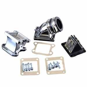 GOOFIT Modifié Ensemble d'étanchéité d'adaptateur de tuyau Collecteurs d'admission de 32 mm pour 2 courses DIO 50 ZX SE50 SK50 SA50 Elite Scooter P091-251