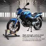 Support de Roue Avant pour Moto, Béquille d'atelier Roue Avant de Moto en Acier au Carbone pour Transport Répartion Stationnement, Idéal pour la Plupart des Roues de Moto d'un Diamètre de 17'' à 21''