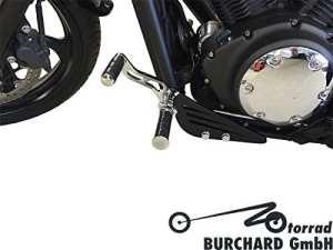 Usine 17cm anticipative Repose-pieds pour Yamaha XVS 1300Custom Chromé avec ABE