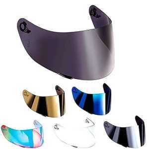 Visière non originale, compatible avec casque AGV K3 SV, K1, K5, K5-SV, K5S Horizon, Skyline, Strada, Numo, GT-2, taille XXS-XS-S-MS-M-ML-L-XL-XXL TAGLIA UNICA Blu specchio