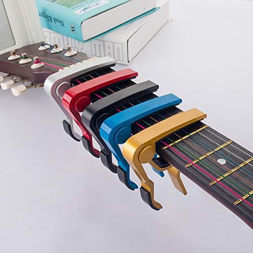 Accessoires Alliage d'aluminium Guitare Accordeur Pince Clé de déclenchement professionnelle Capo pour Acoustique Électrique Instruments de Musique – rouge