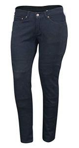 Bikers Gear Australia, Jeans de Moto pour Femmes CE Genou Armure KEVLAR Stretch Denim, Noir, EU 40R (UK 12R, M)