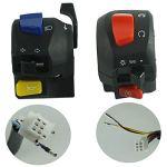 BMD-Store Une paire de motos 7/8″guidon klaxon clignotant phare démarrage électrique Kill Control commutateurs pièces de moto universelles, Haute qualité