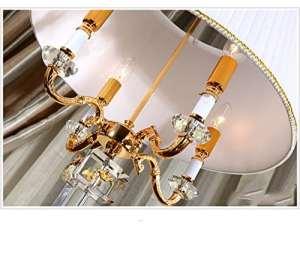 DHG Lampadaire de Style Européen Villa Salon Cristal Lampadaire de Luxe Personnalité Classique Chambre Cristal Lampadaire,Lampadaire en Cristal,Hauteur: 165cm
