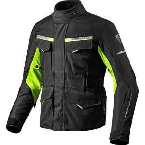 FJT208 – 1450-XL – Rev It Outback 2 Motorcycle Jacket XL Black Neon Yellow