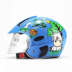 GHL Enfant Casque Moto Hommes Et Femmes Petit Enfant Casque Demi Casque,Blue