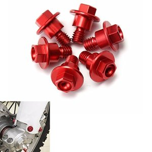 GOZAR 6Pcs CNC Red Bolt Fourche Guard pour Yamaha/Suzuki/KTM/Kawasaki/Honda Crf250/125/450/Xr250/400/Cr85R