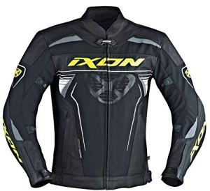 Ixon – Blouson Moto – IXON Frantic Noir/Blanc/Jaune Vif – L