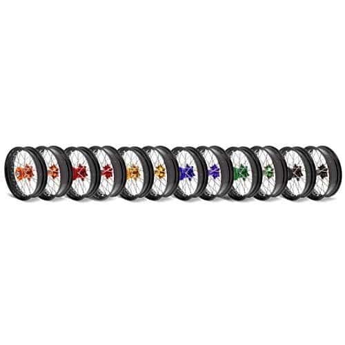 Kit roues complètes avant + arrière ART SM 17×3,50/17×4,50 jante noir/moyeu rouge Beta