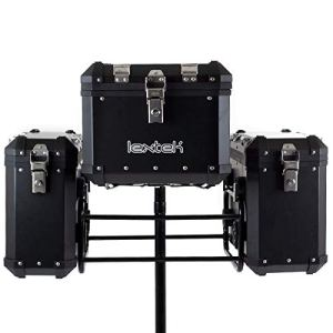 Lextek Asymmetrical Aluminium Luggage Set 102L Noir (ALUBXKIT138)