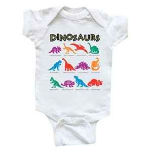 Nouveau-né bébé Fille garçon ABsoar Enfant Garcon O-Cou Les Bretelles Vetement Lettres de Dinosaures colorées Manche Courte Romper Tenues de ensmble pour 0-24mois