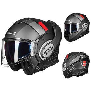 ZY résistance à l'abrasion Moto Helmets,Confortable Respirant Facile à Nettoyer Visage Entier Couverture À Rabat Motocycle Casque,Crash Visière Anti-Rayures Motocyclette