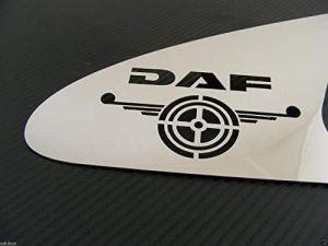 2en acier inoxydable poli Poignée de porte Panneau Décorations pour Daf CF camions