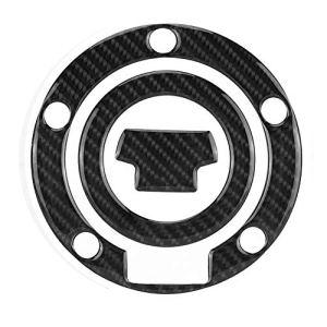 Autocollant de Réservoir de Moto, EBTOOLS en Fibre de Carbone Bouchon de Réservoir D'essence de Moto Pad Sticker Sticker Stickers pour YZF-R1 R6 (Gel de Recouvrement de Fibre de Carbone)