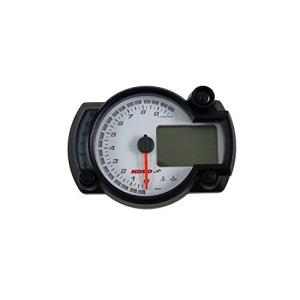 Compteur de Vitesse KOSO numérique Cockpit RX2N Plus, 0-10000RPM, Speed/TR/Min/Fuel/Trip/Time/Temp, éclairage Bleu, Blanc