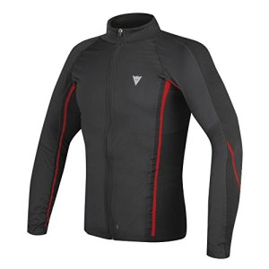 Dainese-D-CORE NO-WIND THERMO TEE LS, Noir/Rouge, Taille L