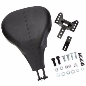 Noir réglable Driver Rider dossier pour Harley Electra Glide Road King 98–08 Moto