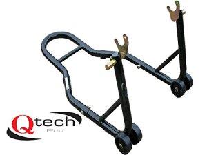 Qtech Support en V pour Roue arrière de Moto pour essieux Prismabuches, Atelier Universel, avec capacité de Levage de 200 kg