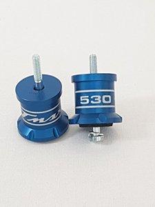 Tmax 530Couple nouveaux rehausseurs aluminium anodisé bleu x schienalino selle conducteur T Max