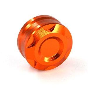 Bouchon de conduite d'eau de radiateur de moto orange de commande numérique par ordinateur pour KTMDUKE 125 200 390