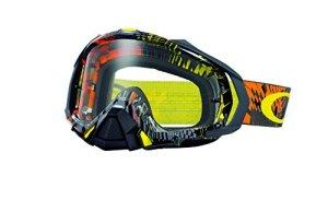 Masque Motocross Oakley Mayhem Pro Podium Check Orange – Clear (Default , Noir)