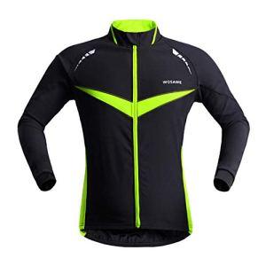 Poolney Vêtements de Moto réfléchissants Hommes Coupe-Vent imperméable Coupe-Vent imperméable à l'eau à Manches Longues Manteau vêtements de Veste Black with Green XXL
