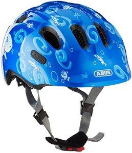 Abus Smiley 2.0 Casque pour vélo Garçon, Blue Sharky, 45-50 cm