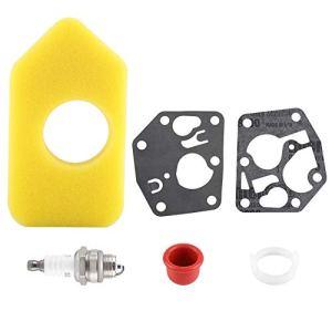 Carburateur Membrane Joint Filtre à air Bougie d'allumage Kit pour Briggs Stratton de nombreux petits moteurs