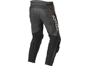 Alpinestars – Pantalon Moto Track V2 Leather Pants Black Red Fluo – 58