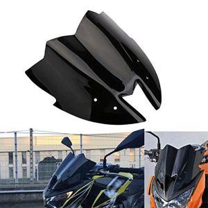 CVERY Pare-Brise de Moto en ABS pour Kawasaki Z800 ZR800 2013 2015, Pare-Brise Facile à Installer avec vis, Voir Image, 31.2×31.8cm