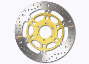 EBC disque de frein x-disc iNOX diamètre : 305 mm, en acier inoxydable de frein flottants avec décorations en aluminium-moyeu