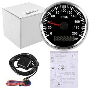 ELING Compteur de vitesse GPS étanche 200KM/H pour Buggy Moto avec rétro-éclairage 85mm 12V/24V