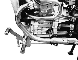 Installation 39cm anticipative Repose-pieds pour Honda CX 500C pc01avec TÜV
