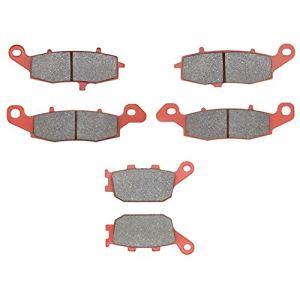 MEXITAL Plaquettes de frein Céramique Avant et Arrière pour SV 400(03-05) / SV 650(03-15) / GSF 650 Bandit (05-06) / GSR 750 L/AL (11-14) / DL 1000 V-Strom (K/L) (02-12)