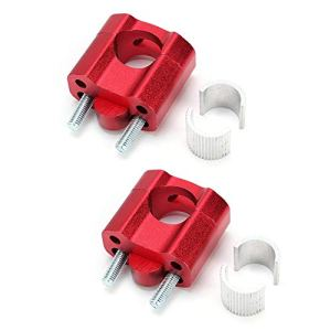 Rehausse de guidon, 1 paire de colliers de serrage à barre de 22mm de 22mm pour rehausse de guidon pour accessoires de réparation de moto, rouge