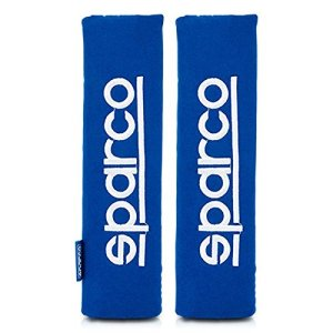 Sparco Progetto Corsa SPC1204BL Spc Blue Belt Oreiller, Bleu, Set de 2