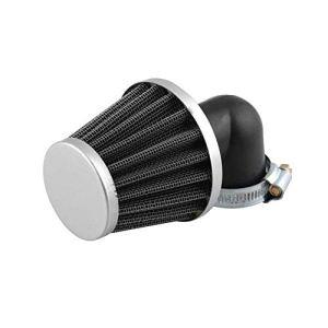 Filtre à air de moto, filtres à air universels 35MM 90 ° de tube incurvé de filtres à air de filtre d'admission d'air